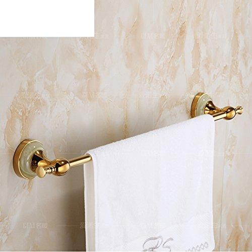 lovely European-style copper-gold towel Towel rack/Single bar/Jade bathroom Bathroom accessories the bathroom-A