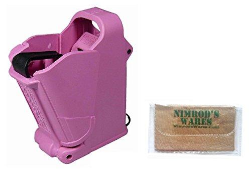 Maglula UpLULA Universal Pistol Loader Unloader 9mm-45ACP UP60 + Nimrod's Wares Microfiber Cloth (Pink)