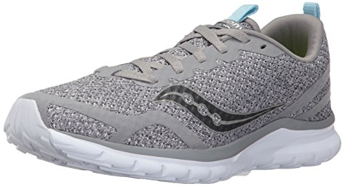 Saucony Women's Feel Sneaker, Grey, 8.5 Medium US