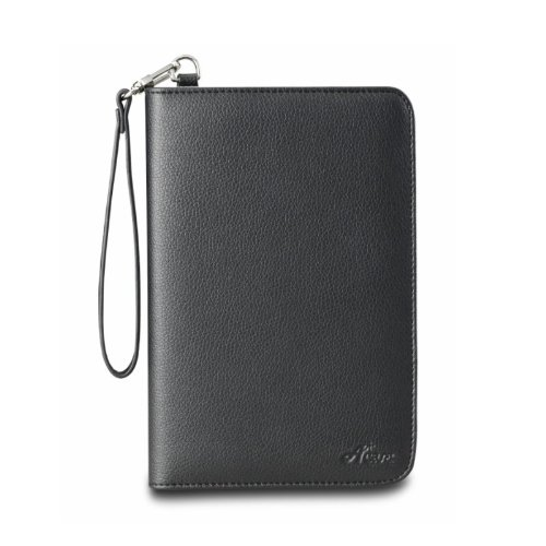 Acase(TM) Lighted Kindle Touch Leather Folio Case (Black)