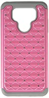 Asmyna Cell Phone Case for LG G6 - Pearl Pink/Gray