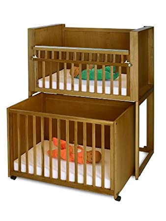 Stackable Space Saving Cribs (C2 Cinnamon)