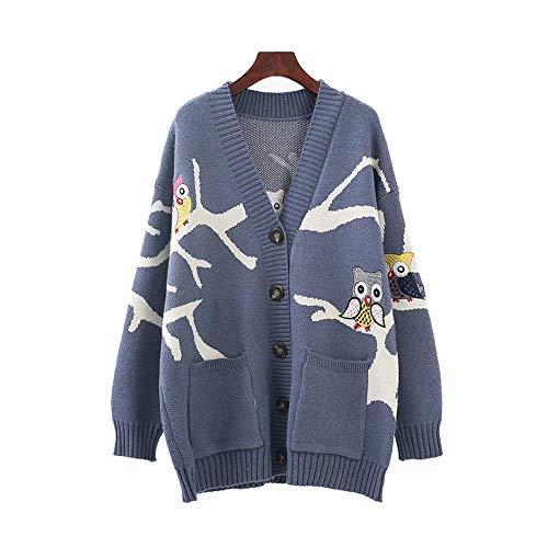 ユウエ ニットセーター レディース カーディガン Vネック 刺繍 ニットコート 体型カバー アウター ゆったり 018-yfy-c606