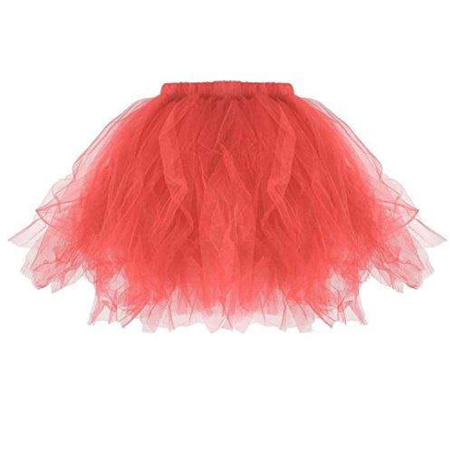pour Femmes Jupes Lenfesh plisses Filles de Fantaisie Haute Pastque Jupe Tutu Ballet Les qualit SPzwp
