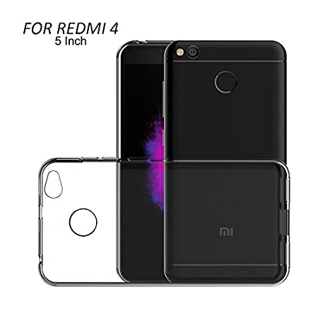 XiaoMi RedMi 4 [May 2017 Release] Sleek Premium Clear Soft Back Cover Case For RedMi 4 By Fastway- Transparent