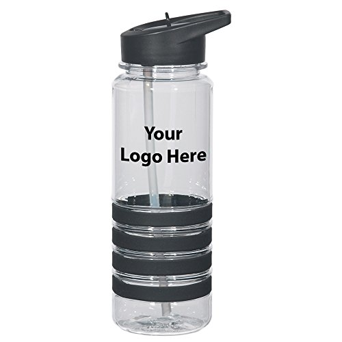 - 24 Oz. Banded Gripper Bottle with Straw - 48 Quantity - $5.25 Each - Promotional Product/Bulk with Your Logo/Customized