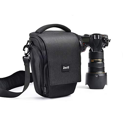 Medium Camera Bag Case Waterproof with Modular Inserts by Zecti for Nikon, Canon, Sony, Fuji Instax, DSLR, Mirrorless Cameras and Lenses