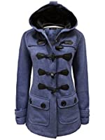 ENVY BOUTIQUE LADIES HOOD DUFFLE TRENCH HOODED POCKET COAT JACKET SIZE 8-20