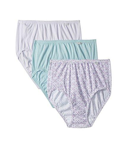 Jockey Women's Elance¿ Brief 3-Pack Violet Mist/Nouveau Scroll/Soft Breeze 5