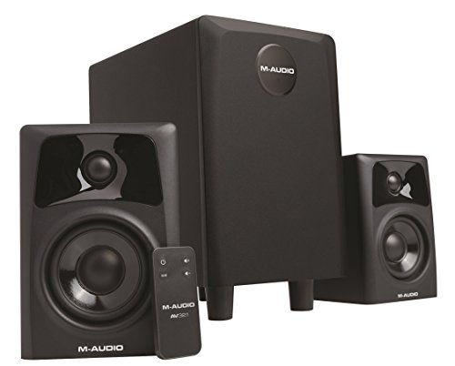 M-Audio AV32.1 Compact Active Desktop Studio Monitor Speakers with...