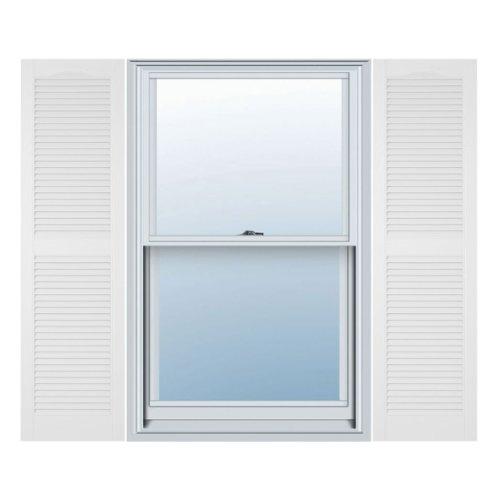 Window Shutters Exterior - Builders Edge, Inc. 020140067001 Open Louver Vinyl Shutters