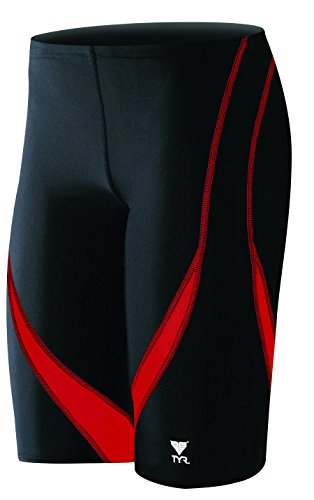 TYR Alliance Splice Jammer Swimsuit, Black/Red, Size - Triathlon Swimsuits