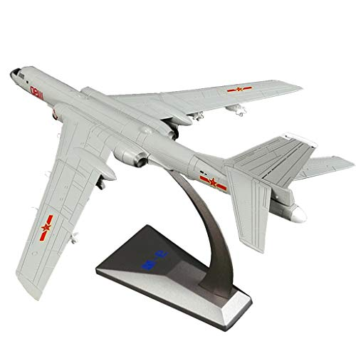1/144 Alloy Chinese Airforce H-6K Airplane Aircrafts Fighter Toy Model, Home Office Desktop Bookcase Shelf Decoration (Aircraft Display Shelf)