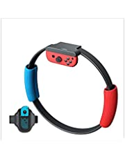 Ring Con for Nintend Switch Fitness Ring Fit Adventure Sport Game Set Adjustable Leg Strap Sport Band Ring-Con Anti-Slip Grips