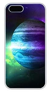 Jupiter 3 Cover Case Skin for iPhone 5 5S Hard PC White