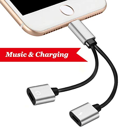 2 in 1 Adapter for Compatible Phone 7/8 Black For Sale