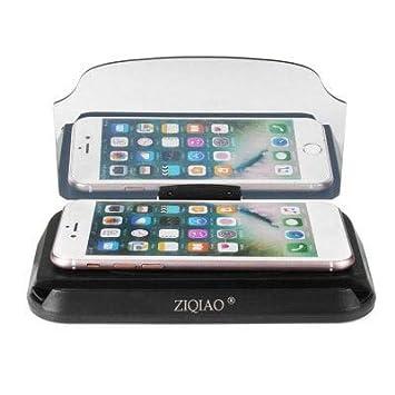 HaiMa Ziqiao Universal Coche Hud Cabeza Arriba Display Proyector Smart Phone GPS Navegación Titular-Negro: Amazon.es: Coche y moto