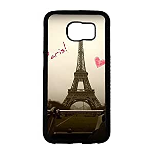 Samsung Galaxy S6 3D Mobile Shell Handy Dynamic Snap on Samsung Galaxy S6 Beautiful Eiffel Tower Pattern Cell Shell