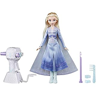 Disney Frozen II Sister Styles Elsa Fashion Doll with Extra-Long Blonde Hair, Braiding Tool & Hair Clips - Toy For Kids Ages 5 & Up