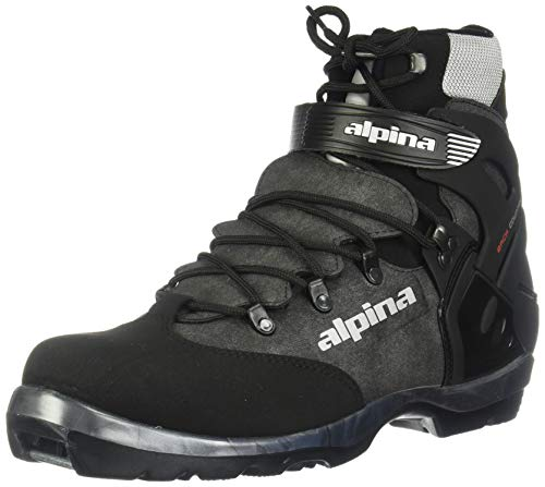 Alpina BC-1550 Back-Country Nordic Cross-Country Ski Boots, for use with NNN-BC Bindings, Black/Silver, 42