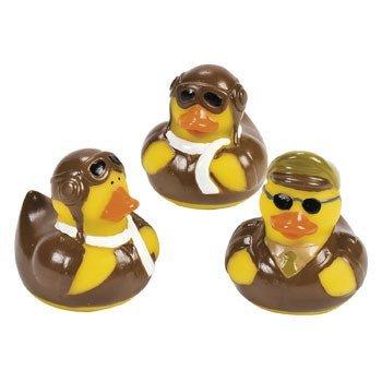 Fun Express Pilot Aviator Rubber Ducks (12 -