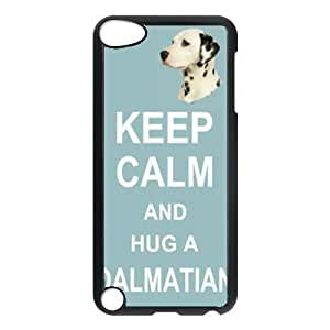 Custom Dalmatian Dog Keep Calm and Hug Hard Case Clip on Back Cover for Ipod touch5