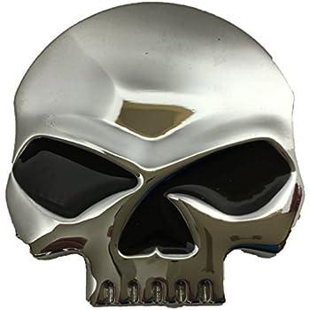 Amazon Com Custom Accessories 98040 Skull Emblem Automotive