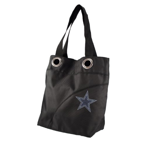 NFL Dallas Cowboys Sport Noir Sheen Tote (Dallas Jersey Stars Purse)