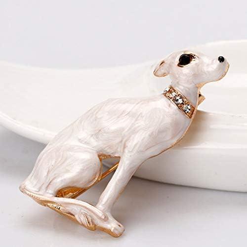 NancyMissY Al235-Aウェディングアクセサリー服ヨーロッパとアメリカホワイトドッグラインストーンブローチ女性ハイエンドダイヤモンド動物コサージュ