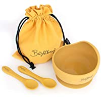 Brightberry Suction Bowl Set with 2 Feeding Spoons & Carry Bag. Baby Bowl Design Encourages Self Feeding, Includes Two…