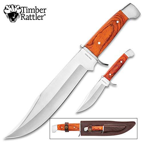 (Timber Rattler 2-Piece Custom Bowie Knife Set)