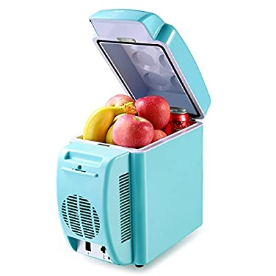 Housmile Thermo - Electric 12V Cooler / Warmer Portable Car Refrigerator Personal Mini Fridge - 7L Capacity