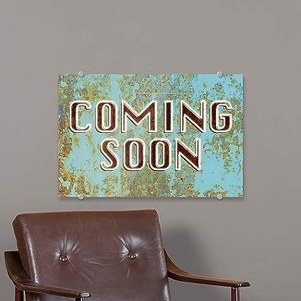 5-Pack Classic Brown Premium Acrylic Sign CGSignLab Garage Sale 24x6