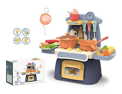 jvm little chef kids kitchen play set with light & sound cooking kitchen set play toy-Pink,Plastic,Pack of 1 set