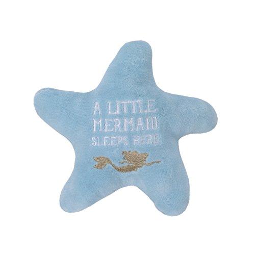 Disney Ariel Sea Princess Starfish Decorative Pillow, Blue/White/Gold from Disney