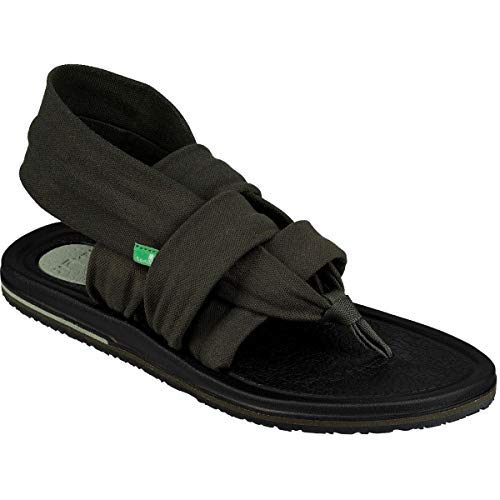 - Sanuk Women's Yoga Sling 3 Sandal, Forest Green, 5 M US