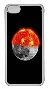 Customized iphone 5C PC Transparent Case - Sun And Moon Personalized Cover