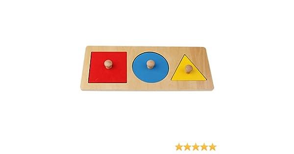 SODIAL 1 Kit Juguete de Madera de geometria Montessori- Juego ...