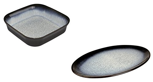Denby Halo Square Oven Dish and Oval Platter, Set of 2 by Denby