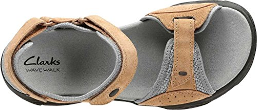 CLARKS Wave Grip Womens River Sandals Smokey Brown (9.5 D US) ojLDvrBQrr