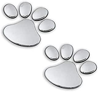 2pcs/ Lot Silver Bear Paw Footprint