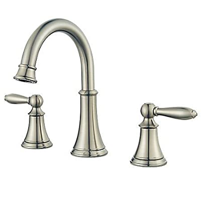 Pfister Courant 8 in. Widespread 2-Handle High-Arc Bathroom Faucet in Brushed Nickel F-049-COKK