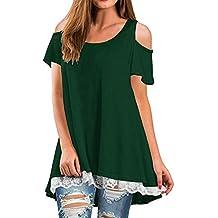 NWEONESUN Clearance!!!Women Fashon Striped Long Sleeve Loose Blouse Casual T Shirt Tops