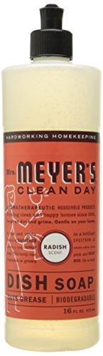 Mrs. Meyer's Dish soap, Radish scent, 16 fl oz