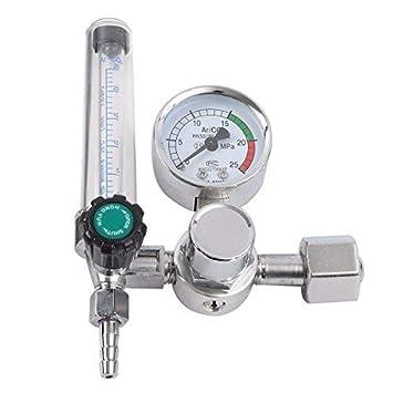 KUNSE 0-25Mpa Argón Co2 Mig TIG Medidor De Flujo De Gas Botella Regulador para Soldadura Mig: Amazon.es: Hogar