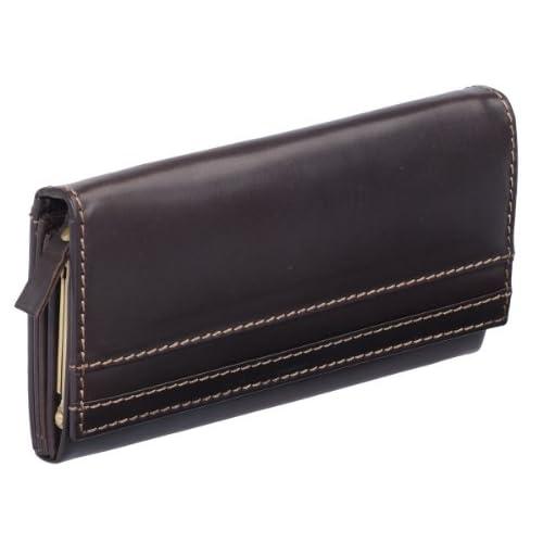 Geldbörse Portmonee Portemonnaie mit Kette LEAS MCL Vintage Echt-Leder schwarz
