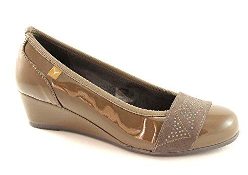 Marrone Dancers decollet Taupe 1846 Cinzia Soft zeppetta Shoes Woman 1EX8qw