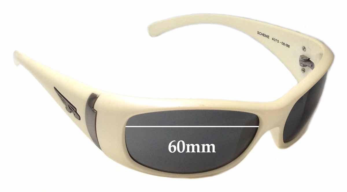 SFX Replacement Sunglass Lenses fits Arnette Scheme AN4075 60mm Wide
