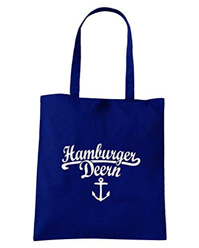T-Shirtshock - Bolsa para la compra WC0390 Hamburger Deern Classic Anker Azul Marino