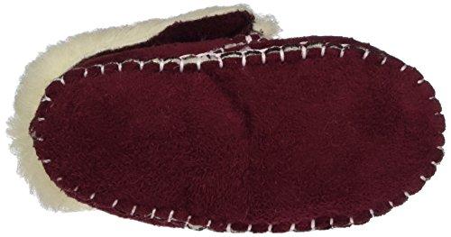 Playshoes Babyschuhe In Lammfell-optik Zum Binden - Zapatillas de casa Bebé-Niños Rojo - Rot (Bordeaux 9)